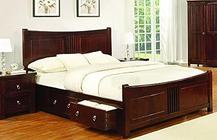 Sweet Dreams Mahogany Drawer Bed Frame 180cm Super King Size 6ft