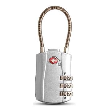 Senmir TSA Aprobado Viaje Equipaje cerraduras Cable de Seguridad con candado de combinación, 3 dígitos