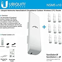 10 Pack Ubiquiti NanoStation M5 NSM5 5GHz 2x2 MIMO