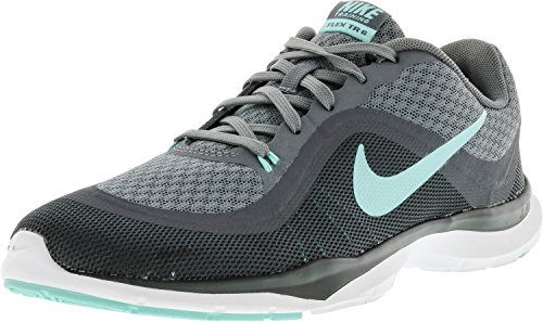 Grey Dark Grey Indoor WMNS Trainer Blue Flex Cool 004 Women's 6 Shoes NIKE Multisport qv7FfF