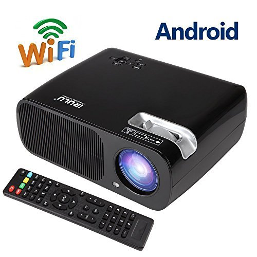 Upgraded wireless 200 portable led projector built in for Best portable projector