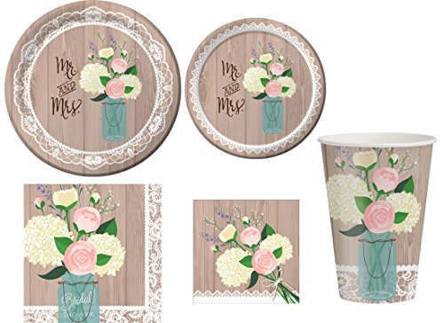 (Rustic Wedding Party Supplies Kit for)