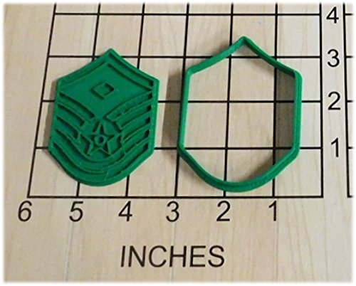 - US Air Force Master First Sergeant Stripes Shaped Cookie Cutter and Stamp #1059