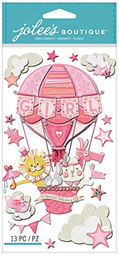 Jolee's Boutique Dimensional Stickers, Baby Girl Special Delivery