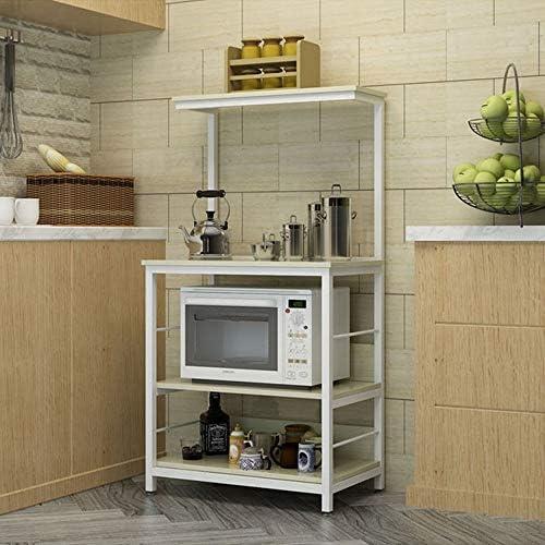 Gabinete Plataforma 4-Tier estante de la cocina del panadero Utilidad del horno microondas soporte de almacenamiento de la compra de estaciones de trabajo Plataforma for la cocina Almacenamiento de co: Amazon.es: Hogar