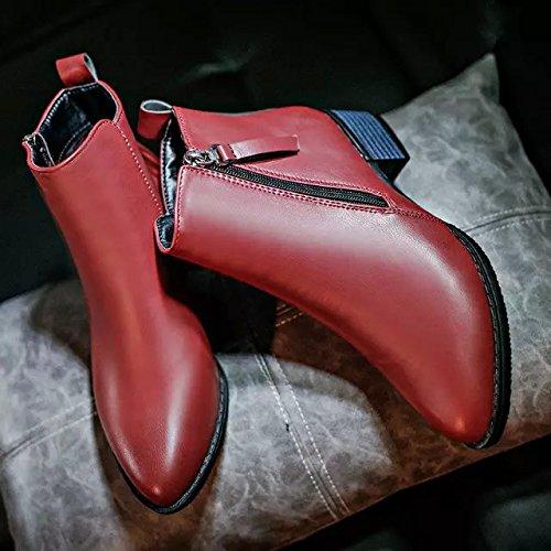 color cremallera Ma de puro dama cómoda Martin Señora botas lateral Forty Dingxue OxaYWt