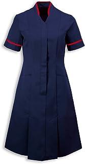 Alexandra al-nf51nr-112r Mandarin Collar Dress, tinta unita, regular, finiture rosse/Trim, petto 112cm (taglia 20), Sailor navy