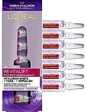 L 'Oréal Paris Revitalift Filler hyaluronzuur ampullen sterk gedoseerd, anti-aging filler-shots met puur hyaluronzuur voor intensieve vochtigheid, 1 week kuur, 7 x 1,3 ml