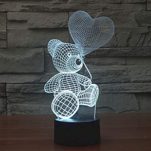Lampe 3D Illusion Veilleuse LED Optique Nounours ballon 7