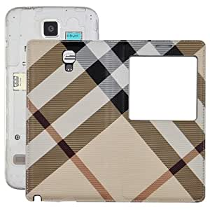 Manta Pattern Flip Leather Case with Plastic Replacement Back Cover for ID Call pantalla Samsung Galaxy Note 3 Neo N7505 ()/Beige