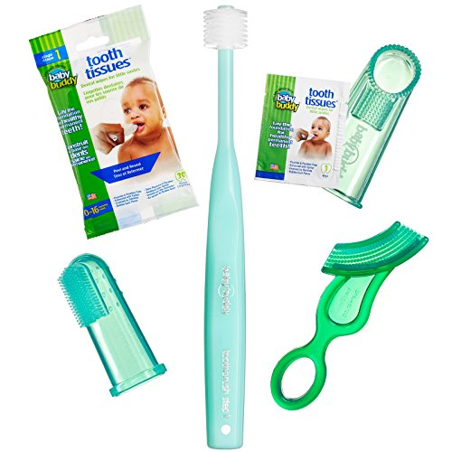 Newborn Oral Care - Brilliant Infant Oral Care Set by Baby Buddy, Green