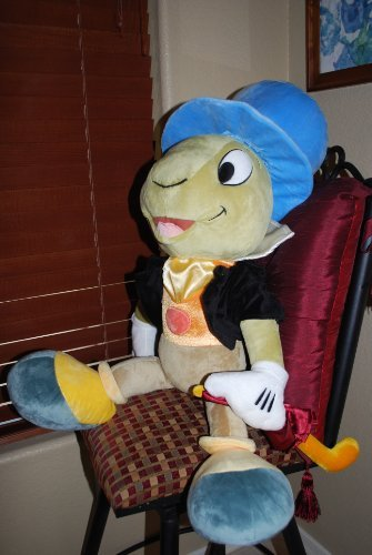 (Rare Disney Pinocchio Oversized 34 Inch Jiminy Cricket Plush Doll -Largest Jiminy Cricket Ever Produced)