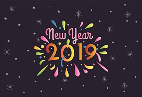 Amazon.com : CSFOTO 7x5ft Background for Colorful 2019 Happy New