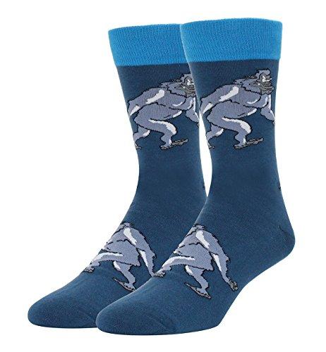 Men's Novelty Crazy Silly Sasquatch Yeti Funny Socks, Christ