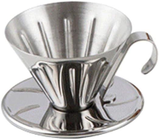 Moka Pot, MMKICC Gotero Taza de acero inoxidable Cafetera V60 ...