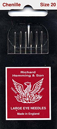 Colonial Needle 6 Count Richard Hemming Chenille Needle, Size 20