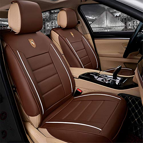 YJF-QCZT Easy To Clean PU Leather Car Seat Cushions 5 Seats Full Set - Anti-Slip Suede Backing Universal Fit Car Seat Covers for Both Fabric and Leather Car Seats,Coffee: Amazon.co.uk: Kitchen & Home