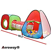 Aeroway One Square Cubby-One Triangle Cubby-One Tunnel 3 in 1 Children's Playground. Play Tent House and Tube for Kids Great for Fun Indoor and Outdoor