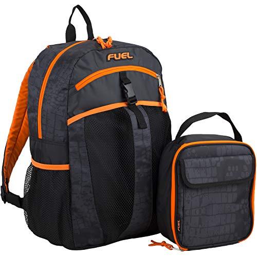 Fuel Backpack & Lunch Bag Bundle, Black/Blaze Orange/Snake Print (Black Blaze)