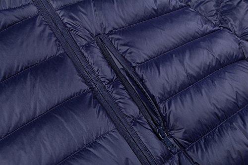 Men's Packable Weight Blue Hooded Dark Jacket Insulated Wantdo Down Puffer Light FgdqWBc5xw
