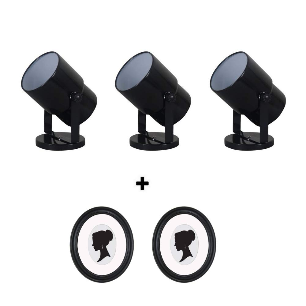 Mainstays 7.5'' Spotlight Accent Lamp, (Black Finish, 3 Pack)