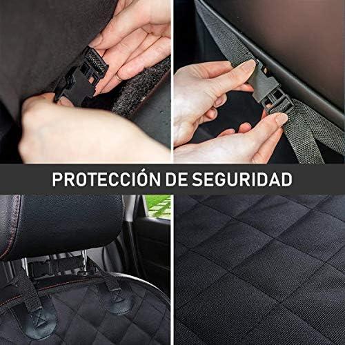TYC Cubierto Asiento Perro, Funda para Mascotas para Asiento de Coche, Asiento Impermeable Anti-Deslizamiento para Mascotas Perro Gato(Negro) 4