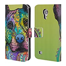 Official Dean Russo Lucy Dogs 4 Leather Book Wallet Case Cover For Samsung Galaxy S4 mini I9190