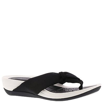 125d2c57fef0 Easy Spirit Womens Beachy Thong Sandals 5 Black