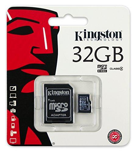 Price comparison product image Kingston Digital 32 GB microSDHC Flash Memory Card SDC4/32GB