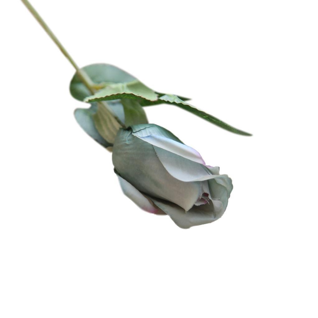 Lookatool 6個Pretty DIY人工フェイク花シルクローズ花柄結婚式ホームデコレーションmw43625 グレー LJH-110 B07B2Y8DMN D