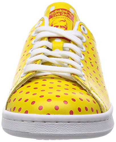 Adidas Stan Smith SPD B25401, Herren Sneaker, YELLOW/RED/FTWWHT B25402, 39 1/3 EU