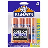 Office Products : Elmer's Disappearing Purple Glue Sticks with Bonus Re-Stick Glue Stick, 3 + 1 Pack