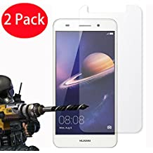 2 Pack - Huawei Y6 II / Huawei Y6 2 Tempered Glass Crystal Clear LCD Screen Protector Guard & Polishing Cloth