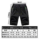 Tansozer Men's Casual Shorts Elastic Waist Comfy