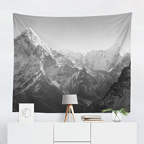 Mountain Tapestry Wall Hanging Landscape Scenic Nature Everest Tapestries Decor College Dorm Living Room Art Gift Bedroom Dormitory Bedspread Small Medium Large - Printed in the USA (Modern Tapestries Collection)