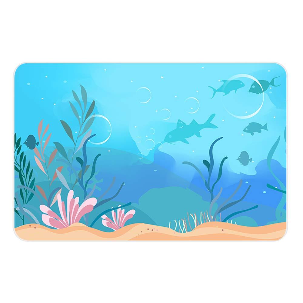 YEARGER 30x40cm Natural Diatom Mud Foot Mat Bathroom Anti-Slip Mat Bathroom Absorbent Mats Bathroom Door Mat Diatomite Absorbent Pad