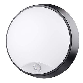 Chestele Lampe Led Hublot Rond Plafonnier Applique Eclairage Luminaire Avec Detecteur De Mouvement 10w 4000k 700lm Ip54 Pour L Interieur Et