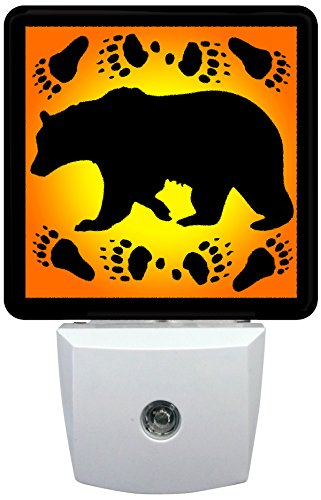 Reflective Art Black Bear Silhouette Night Light