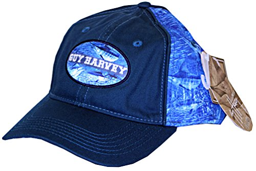 Guy Harvey Blue Marlin Camo Fitted Fishing Hat