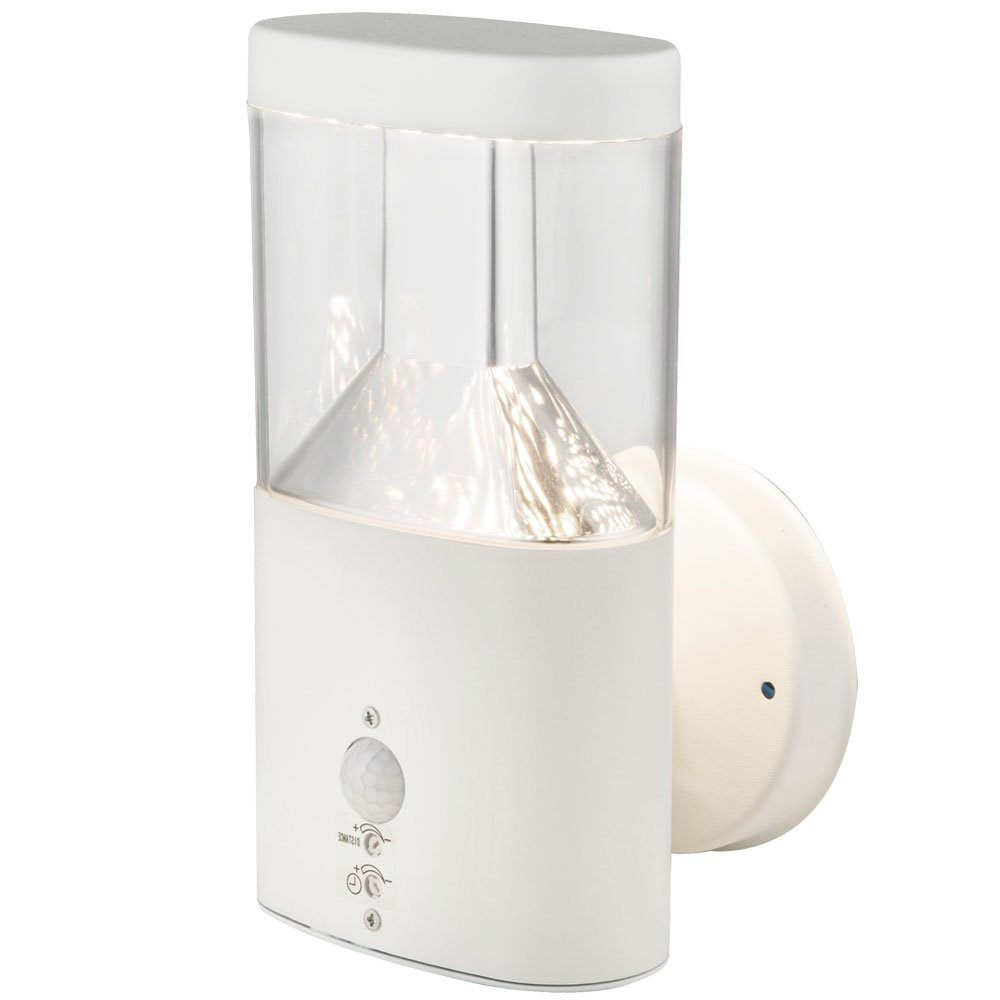 LED Haus Wand Leuchte Sensor Außen Lampe 5 Watt Edelstahl Fassaden Strahler IP44