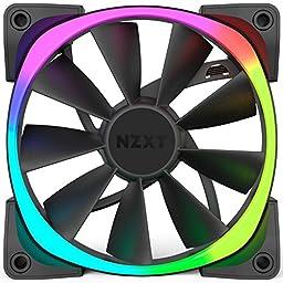 NZXT Aer RGB120 Single Pack RF-AR120-B1 120mm Digitally Controlled RGB LED Fans for HUE+