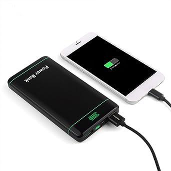 DoSHIn Cargador de batería portátil 12000 mAh Ultra Slim Metal Shell Potencia banco 2 USB y pantalla LED batería externa para iPhone iPad Tablet Samsung ...