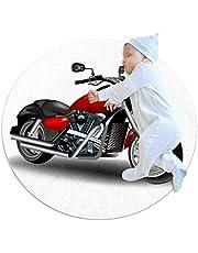 Area Tapijt Motorfiets Ronde Zachte Moderne Tapijten voor Vloer Antislip voor Kamer Decoraties 39.4x39.4IN