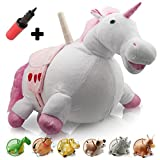 WALIKI TOYS Bouncy Horse Hopper Unicorn (Hopping Horse, Inflatable Ride-On Pony, Ridding Horse For Kids, Jumping Horse, Pump Included)
