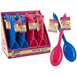 Childrens Plastic Mixing Spoon - Blue or Pink for Boys or Girls Kids Cooking and Baking