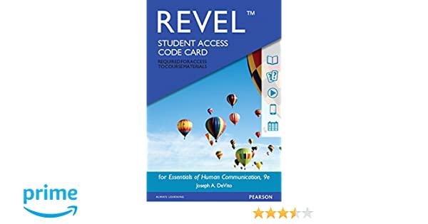 Revel for essentials of human communication access card 9th revel for essentials of human communication access card 9th edition 9780134202082 communication books amazon fandeluxe Images