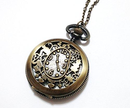 Alice in Wonderland Pocket Watch Necklace - Vintage