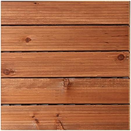 piso Piso de madera, suelo anticorrosión de madera sólida al aire libre, patio jardín suelo de