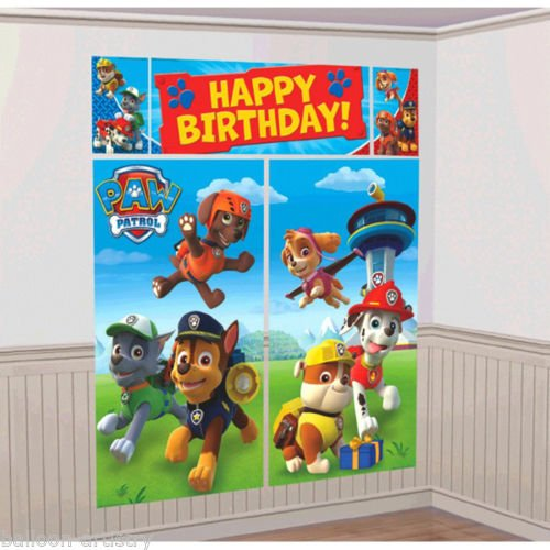 Wizard Of Oz Scene Setter (Paw Patrol Puppy Pets Birthday Scene Setter Banner Wall Party Decoration Kit)