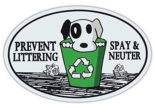 Prevent Littering Spay and Neuter Magnet